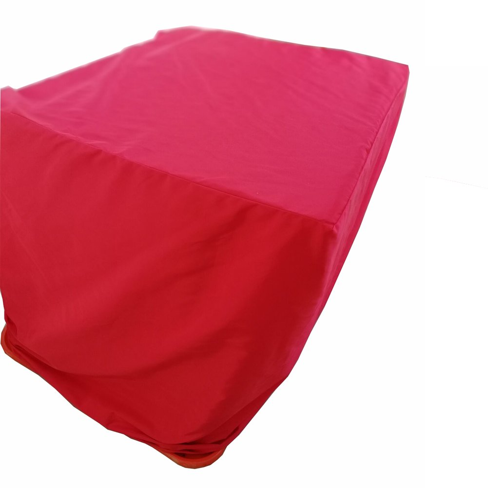 QEES Square BBQ Gas Grill Cover with Closed Strap Heavy Duty Polyester Outdoor Garden Cover Cube Furniture Cover Thick and Durable Fit Most Grill Components JJZ08 (Red)