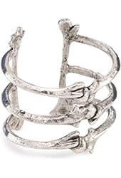 Low Luv by Erin Wasson Silver-Tone Triple Bone Cuff Bracelet