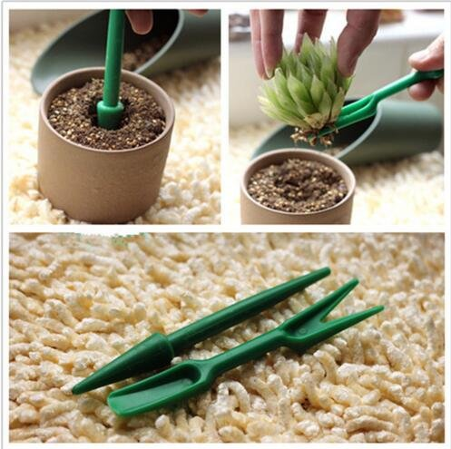 AKOAK 4 Pack Mini Garden Hand Tool Plant Sets - Garden Plant Flower Seed Dispenser,Seed Sower,Garden Seedlings Dibber and Widger for Garden Greenhouse by AKOAK (Image #1)