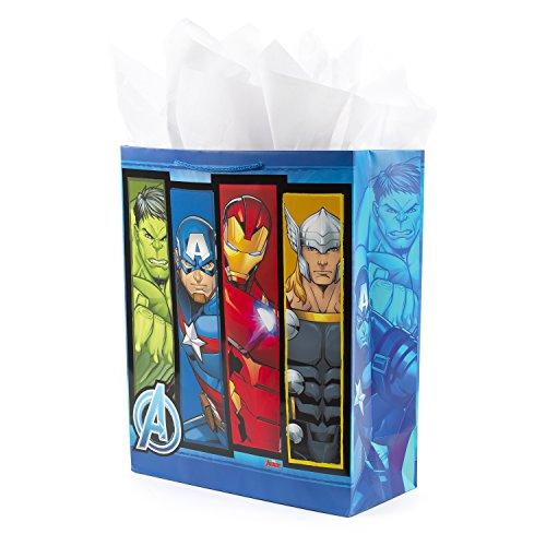 Hallmark Extra Large Avengers Gift Bag with Tissue Paper (Thor, Captain America, Hulk, Iron Man)