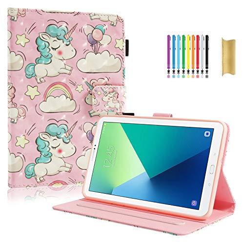 Galaxy Tab A 7.0 inch Case, SM-T280 Case, Dteck Slim Fit Unicorn Case for Kid PU Leather Case Flip Stand Case Cover for Galaxy Tab A 7.0 Tablet 2016 Release (SM-T280/SM-T285), Rainbow Unicorn