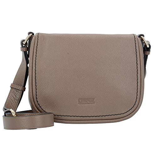 Taupe Bag Cm Cinque 20 Leather Giada Shoulder qwxpFY