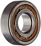 SKF NJ 204 ECP Cylindrical Roller Bearing, Single Row, Removable Inner Ring, Flanged, Straight Bore, High Capacity, Normal Clearance, Polyamide/Nylon Cage, Metric, 20mm Bore, 47mm OD, 14mm Width