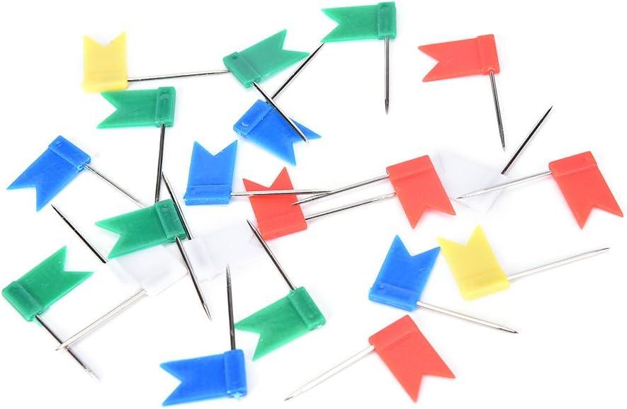 Landkarten /& Weltkarten 100 St/ück Markierungsfahnen Markierf/ähnchen Markierungsnadeln Markier-Fahnen-Pins Pinnadeln Flagge Rei/ßn/ägel F/ähnchen f/ür Weltkarte Pinnwand Bunt