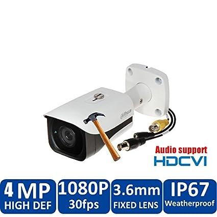 dahua 4 MP HDCVI Cámara HAC de hfw2401e HDCVI IR Dome Audio Vigilancia CCTV IR Distancia