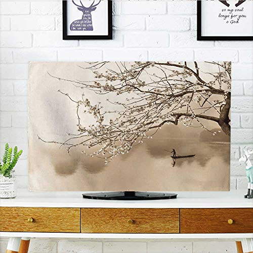 Philiphome Protect Your TV Jardín japonés con Nadar koi Peces en Estanque Proteger su TV W19 x H30 Pulgadas/TV 32 Pulgadas,...