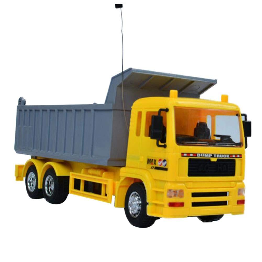 Riverry Fernsteuerungsauto, Fernsteuerungslastwagen - drahtloses Fernsteuerungslastwagenauto-Modellingenieurkind-LKW-Spielzeug