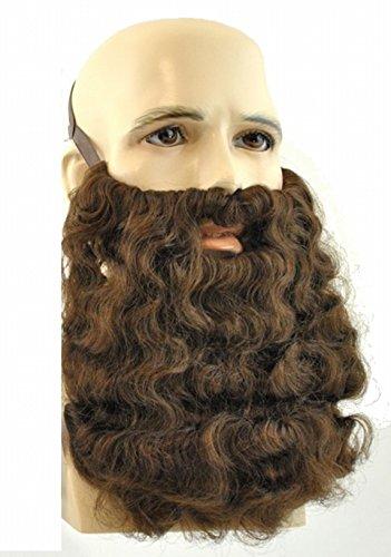 2046 (Brown) Long Curly Beard -