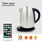 wifi tea kettle - AIMOX Smart Wifi Stainless Steel Electric Kettle through Smartphone Remote On/Off Switch and Temperature Control,1.7 Liter Teakettles Ikettle