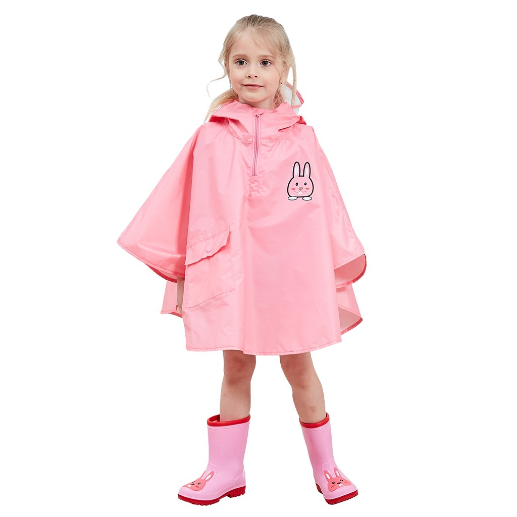 Vine Kids Rain Poncho Waterproof Outerwear Hooded Cloak Raincoat Outdoor Rainsuit Vine Trading Co. Ltd K180522YY001V