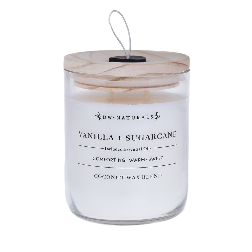 DW HOME NATURALS Vanilla & Sugarcane Scented Large 2 Wick Candle