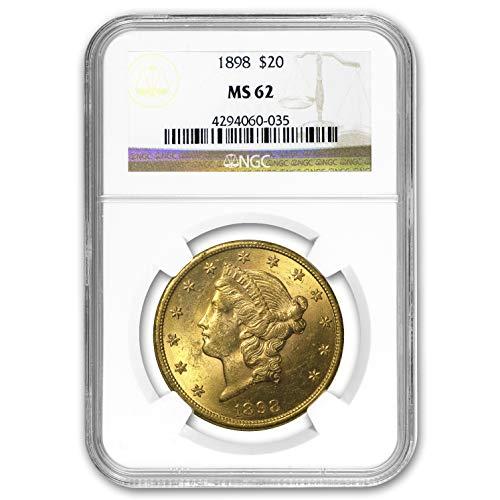 1898 $20 Liberty Gold Double Eagle MS-62 NGC G$20 MS-62 NGC
