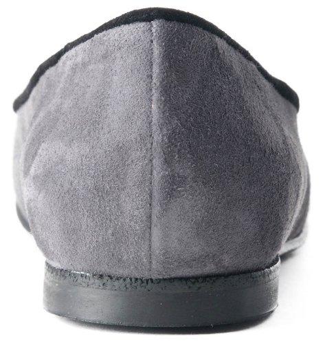 noir Daim À balck Fabriqué Grey Corps Ballerines La Main Gris w6n7Cv1vqx