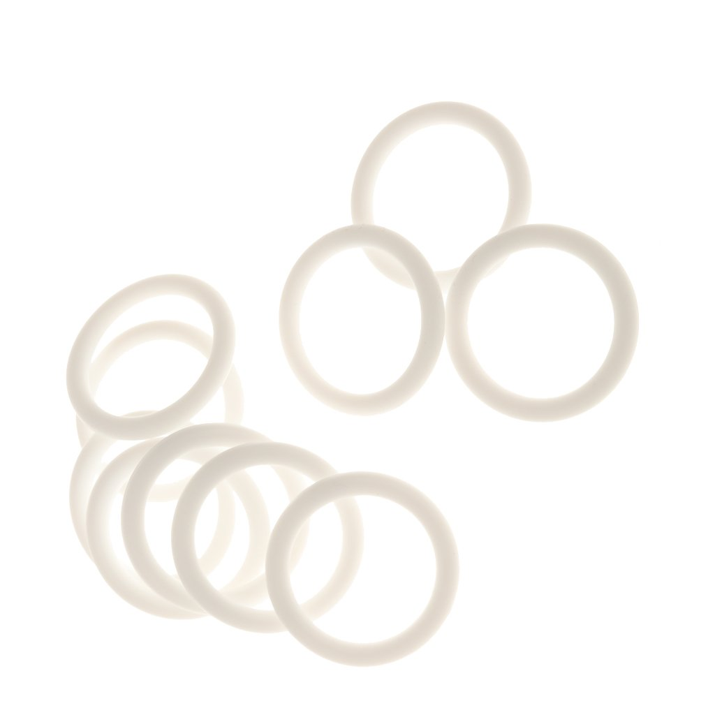 MagiDeal Pack of 10 Silicone Baby Pacifier Holder Adapter O Ring Dummy Ring MAM Ring - White STK0155006276
