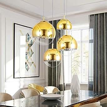 Mzithern Modern Mini Globe Pendant Lighting with Handblown ...
