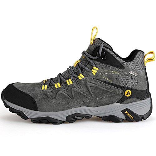 Humtto Chaussures De Randonnée Étroite Semelle Hommes Hiver Sports De Plein Air Chaussures Descalade 3520 Gris