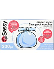Sassy Baby Disposable Diaper Sacks, 200 Count
