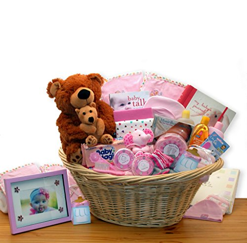 (Baby Girl Gift: Welcome Home Precious Baby Basket -Pink)