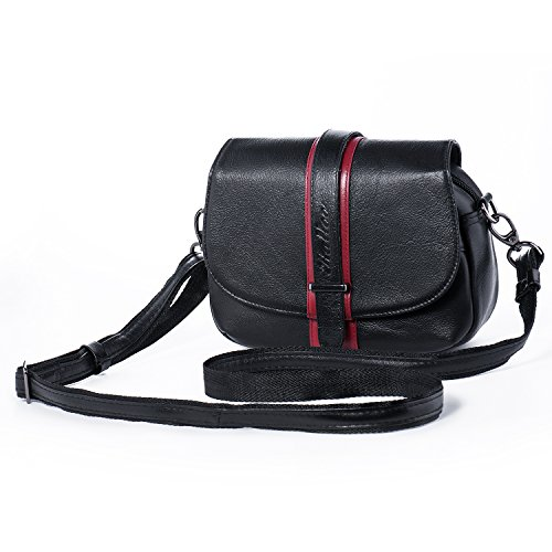 Stripe Kids Messenger (Small Leather Crossbody Purse Women Shoulder Bag Girls Cellphone Handbag Vintage Wallet Organizer Katloo)
