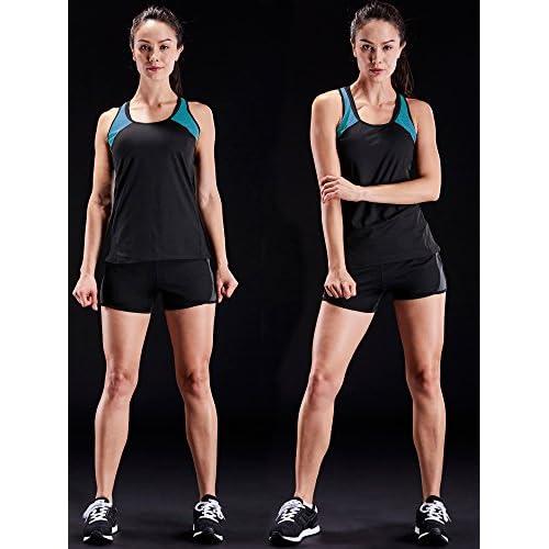 c53bda45bfb223 Neleus Women s 3 Pack Dry Fit Workout Compression Long Tank Top ...