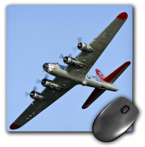 Price comparison product image 3dRose LLC 8 x 8 x 0.25 Inches Mouse Pad, B-17G Flying Fortress Aluminum Overcoat, War Plane Bernard Friel (mp_97114_1)