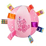 SKK Baby Taggies Chime Ball Soft Rattle Comforter Toy For Infant Toddler Kids Cat