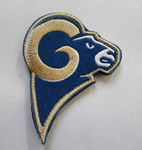 National Football League Los Angeles LA Rams Logo Military Patch Fabric Embroidered Badges Patch Tactical Stickers for Clothes with Hook & -