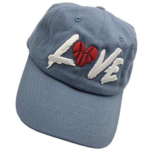 Love Basketball Dad Hats Baseball Cap 3D Embroidered Adjustable Snapback Cotton Unisex ()