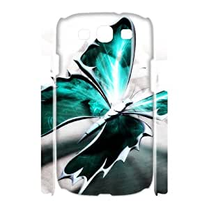 HOPPYS Butterfly Customized Hard 3D Case For Samsung Galaxy S3 I9300