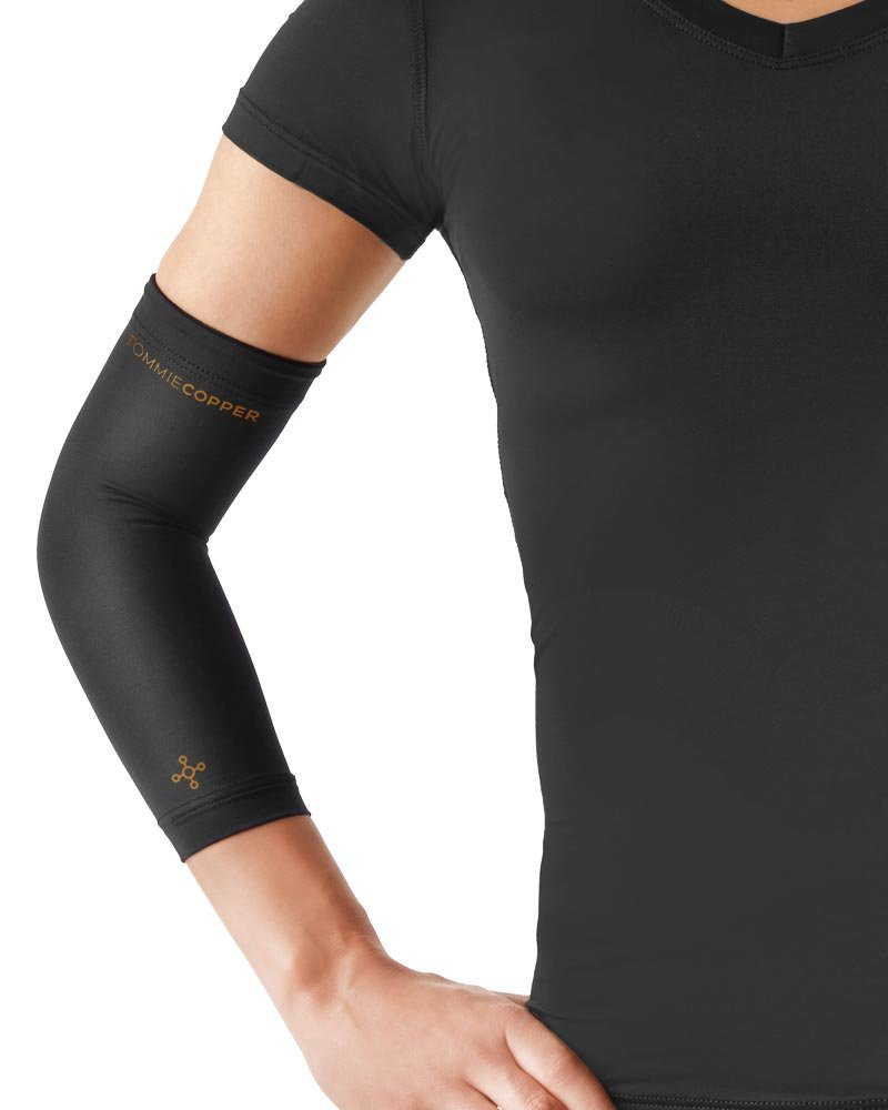 Tommie Copper Womens Recovery Vantage Elbow Sleeve, Black, Small