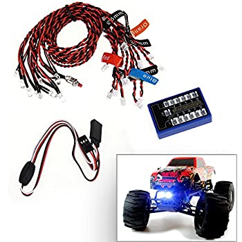 SUNDERPOWER RC Flashing LED Lighting Kit for Scale Cars and Trucks