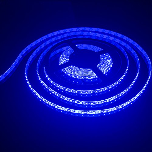 FAVOLCANO LED Light Strip, Blue IP65 Waterproof LED Tape Light, SMD 3528, 600 LEDs 16.4 Feet(5M) LED Strip 120 LEDs/M Flexible Tape (Light Blue Type)