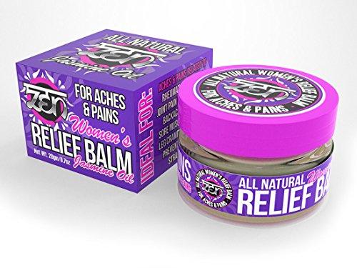 Zen Womens Relief Balm With Jasmine Oil   To Relieve Aches   Pains From  Rheumatoid Arthritis  Backaches  Mild Migraines  Bursitis  Sore Muscles  Arthritis  Joint Pain  Leg Cramps  20Gm 0 7 Oz