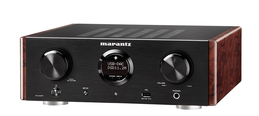 Marantz HD-AMP1 - Stereo Integrated Amplifier with Built-in DAC | Premium Sound Quality | Dual Analog Input | Dedicated Headphone Amplifier | MusicLink Space Saver Design