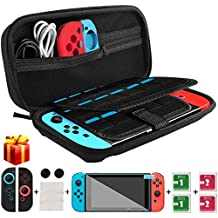 Nintendo Switch Case, kungfuren [UPGRADED 2018] Switch Case with 29 Game Cartridges, Premium Protective Hard Shell Travel Carrying Case Pouch for Nintendo Switch Console & Accessories BLACK