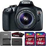 Canon EOS Rebel T6 18MP DSLR Camera + 18-55mm Lens + 128GB Memory Card
