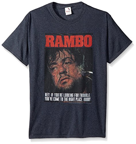 American Classics Unisex-Adults Big and Tall Rambo Gimme Dat Sizzle Short Sleeve T-Shirt, Black Heather, Large