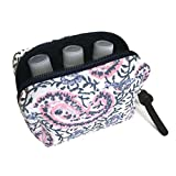 6-bottle Essential Oil Carrying Case (5ml,10ml,15ml) for doTERRA, Young Living Bottles for Aromatherapy Travel or Storage (Paisley)