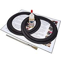 Standard 8 Speaker Foam Surround Repair Kit - Angle-attach - 8 inch