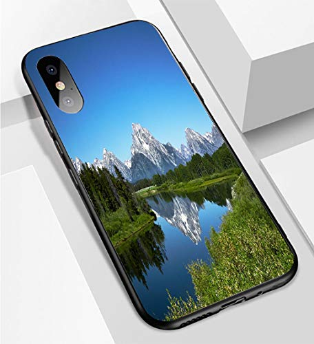 (iPhone X/XS Ultra-Thin Phone case Grand Tetons from Oxbow Bend Wyoming Anti-Drop Anti-Slip Soft Convenient Protective Shell)
