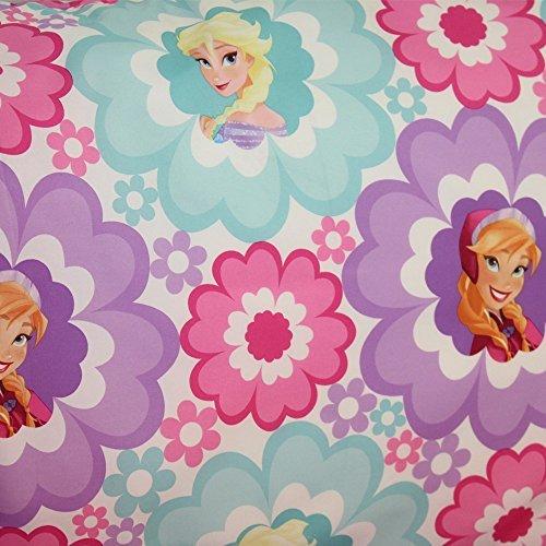 6 X Disney Frozen Floral Hearts Twin 3 Pc Twin Sheet Set
