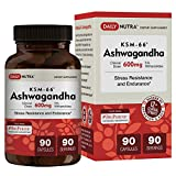 KSM-66 Ashwagandha 600mg – Organic Root Extract – High Potency 5% Withanolides – Health Benefits Include Reduced Stress and Anxiety, Increased Energy and Focus (90 Vegetarian Capsules) Review
