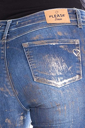 Jeans Please Skinny Donna Denim P78l Stretch Strappato Pqq7dAx6wT