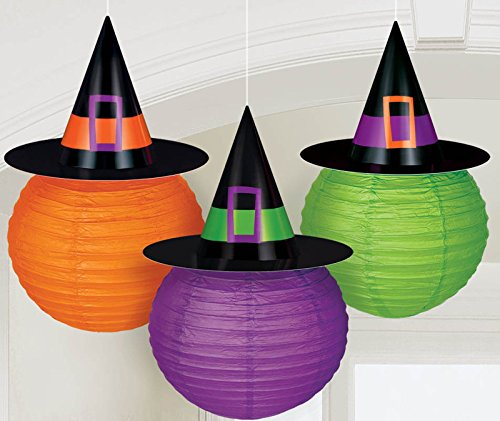 Witch Hat Lanterns-3 Per Unit -