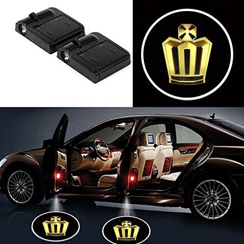 volvo Bearfire 2 Pcs Wireless Car Door Led Welcome Laser Projector Logo Light Ghost Shadow Light Lamp Logos