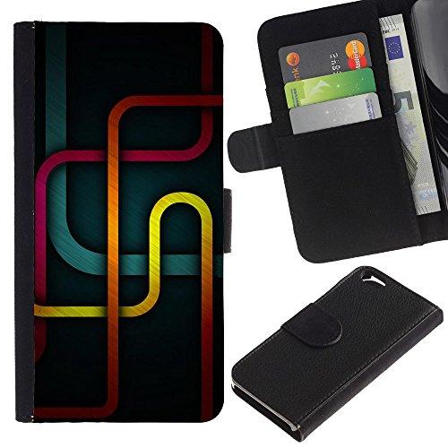 Funny Phone Case // Cuir Portefeuille Housse de protection Étui Leather Wallet Protective Case pour Apple Iphone 6 /Métro/