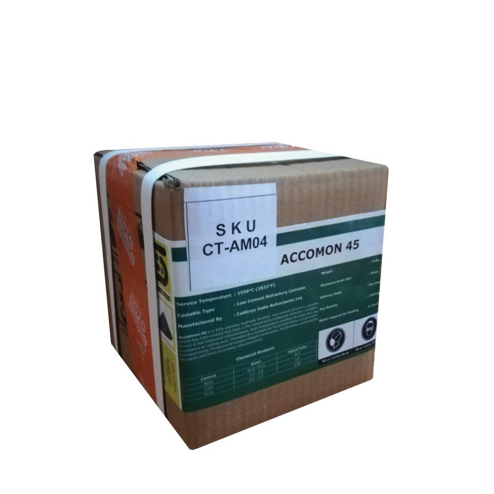 45/% Alumina Hydraulic Bonded Low Cement Refractory Castable 4 Lbs
