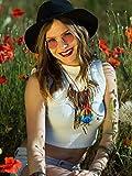 3 Pieces Hippie Costume Set Includes 1 Piece