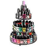 Nail Polish Table Top Rack - 3 Tier Rotating Fingernail Polish Makeup Organizer