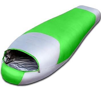 DAFREW El Saco de Dormir Adulto, el Acampar al Aire Libre Mantiene Caliente Abajo del Saco de Dormir Saco de Dormir Solo (Color : Green): Amazon.es: Jardín